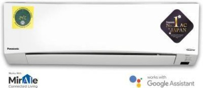 Panasonic 1 Ton 5 Star Split Inverter AC with Wi-fi Connect - White(CS-NU12XKYW/CU-NU12XKYW, Copper Condenser)