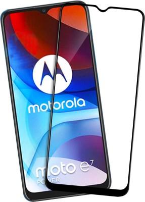 VAlight Edge To Edge Tempered Glass for Motorola Moto E7 Power(Pack of 1)