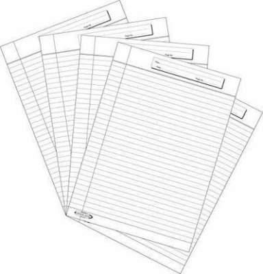 NSG Super One Side Ruled A4 80 gsm Multipurpose Paper(Set of 3, White)