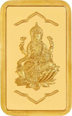 KUNDAN Yellow Gold Lakshmi Ji Coin 24  9999  K 2 g Gold Bar KUNDAN Coins   Bars
