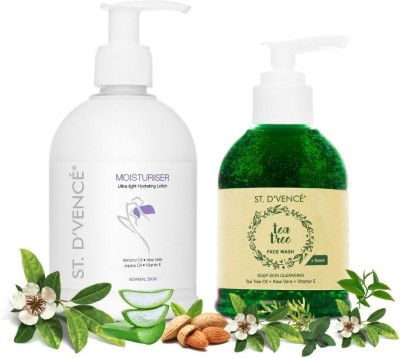 ST. D'VENCÉ Original Body Lotion for Normal Skin Type + Australian Essential Tea Tree Oil and Neem Face Wash |...