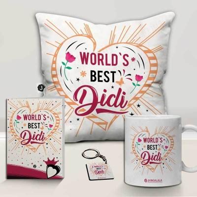 Jhingalala Cushion, Mug, Greeting Card, Keychain Gift Set