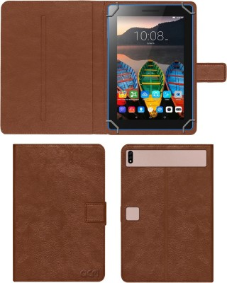 ACM Flip Cover for Lenovo Tab3 7 Essential Byju(Gold, Cases with Holder)