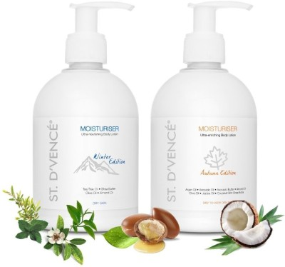 ST. D'VENCÉ Winter Edition Body Lotion for Dry Skin + Autumn Edition Body Lotion for Very Dry Skin (Pack of...