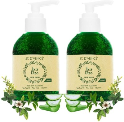 ST. D'VENCÉ Australian Essential Tea Tree Oil and Neem Face Wash | Sulphate and Paraben Free (150 ml (Pack of...