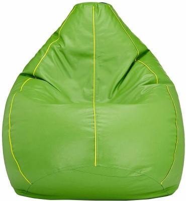 Flipkart Perfect Homes Studio XXXL Tear Drop Bean Bag Cover (Without Beans)(Green)