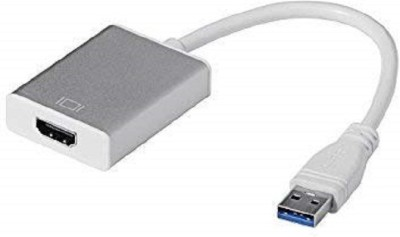 OcAfee USB 3.0 to HDMI 1080 full hd best quality with best 0.2 m HDMI Adapter(Compatible with laptop, pc, desktop,...