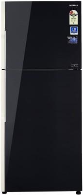 Hitachi 451 L Frost Free Double Door 2 Star (2015) Refrigerator(Black, R-VG470PND3- (XGR))