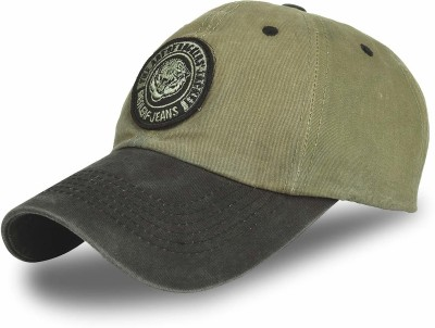 DRUNKEN Washed Cotton Baseball Cap Khaki Freesize Cap