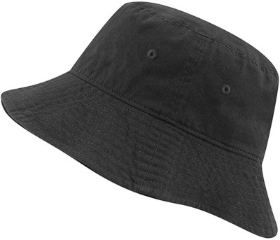 CAPS FOR MEN S bucket ,HAT Fisherman ,Cap Small Brim Free size(Black, Pack of 1)