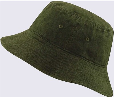 CAPS FOR MEN S bucket ,HAT Fisherman ,Cap Small Brim Free size(Green, Pack of 1)