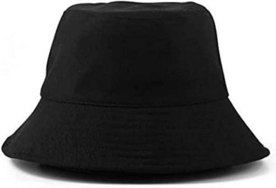 CAPS FOR MEN S Fisherman , Bucket Hat Small Brim FREE SIZE IIdeal F or Men and Women(Black, Pack of 1)
