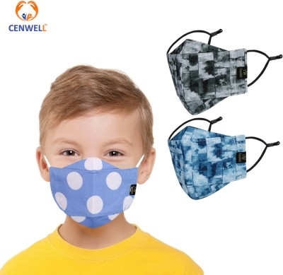 CENWELL CENWELL 100 % Cotton Kids 3D Face Mask Reusable Washable Breathable...