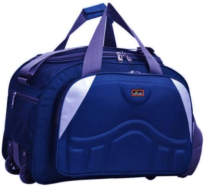 inte traders (Expandable) the super premium heavy duty 60 L polyester lightweight luggage bag Duffel Strolly Bag Duffel With Wheels...