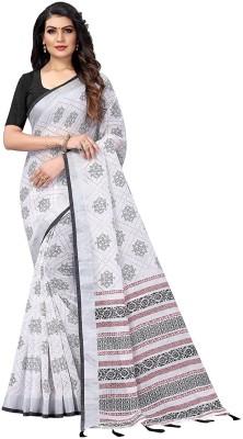 ARRA ENTERPRISE Self Design Daily Wear Cotton Blend Saree(Black)