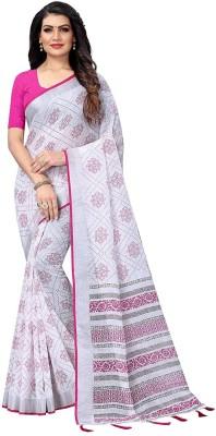 ARRA ENTERPRISE Embroidered Daily Wear Cotton Blend Saree(Pink)