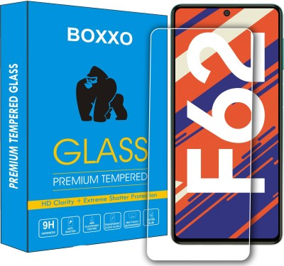 Boxxo Tempered Glass Guard for Samsung Galaxy F62(Pack of 1)