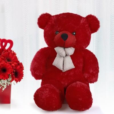 KhoLi Long Cute Teddy Bear   65 cm Red KhoLi Soft Toys