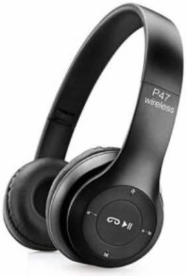 Zaick P47 Wireless Headphone Bluetooth with Mic Bluetooth Headset(Black, On the Ear)