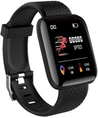 KUBA Smart Band Fitness Tracker Watch(Black Strap, Size : Free)