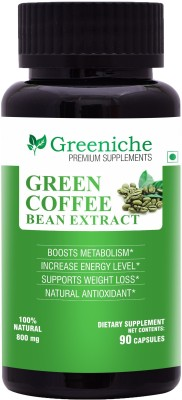 Greeniche Green Coffee Bean Extract 800mg for Weight Loss -...