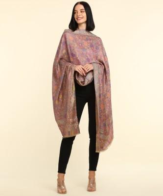 MONTE CARLO Poly Cotton Floral Print Women Shawl(Multicolor)