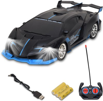 Wishkey Remote Control Super High Speed Racing Car With Stylish Looks & Modern Design,RC Vehicle Toy For Kids(Black, Blue)