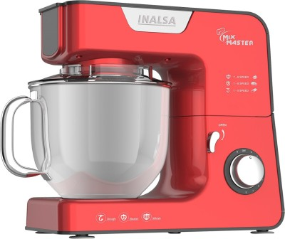 Inalsa Mix Master Stand Mixer 1200 W Stand Mixer(Red)