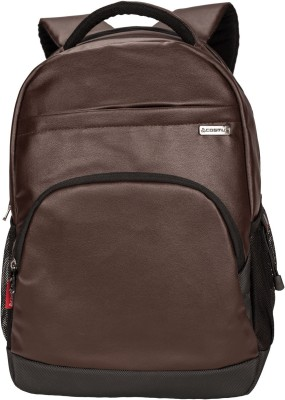 Cosmus Icon Brown Durable 35 Litre PU Leather Laptop Backpack 35 L Laptop Backpack Brown Cosmus Backpacks