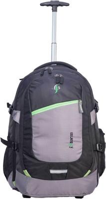 Istorm Backpack Overnighter Trolley Black & Parrot Green 45 L Trolley Laptop Backpack(Black)