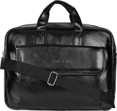 SASSIE Leatherette 12 LTR Black Office Bag, Laptop Briefase, Sling Bag, Messanger Bag & Laptop Bag(SSN-9002) Waterproof Messenger Bag(Black, 12...