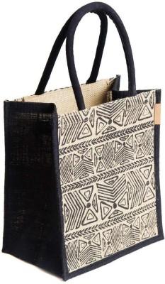 H B Jute Bag Waterproof Lunch Bag Black, 5 L H B Bags, Wallets   Belts