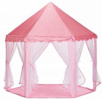 Souxe Portable Princess Castle Fairy Netting Castle Hexagon Play Tent House(Multicolor)