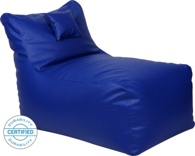 Flipkart Perfect Homes Studio Jumbo Chair Bean Bag Cover (Without Beans)(Blue)