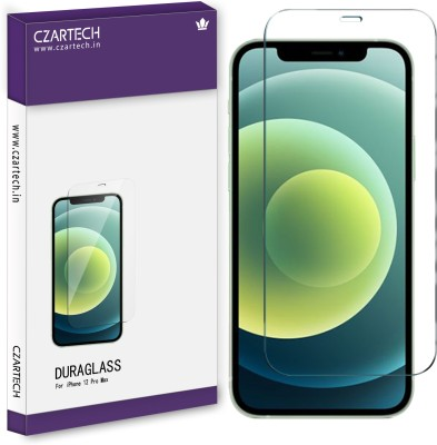 CZARTECH Tempered Glass Guard for iPhone 12 Pro Max(Pack of 1)