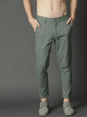 FUBAR Slim Fit Men Light Green Trousers