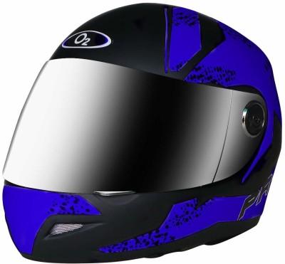 Banyan Pro Full Face Helmet with Scratch Resistant plane Visor, Matte Finish Graphics Motorbike Helmet(Blue)