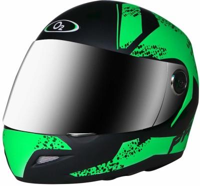 Banyan Full Face Helmet with Scratch Resistant Cross Matte Finish Graphics for Men's Bike Motorbike Helmet(Green)