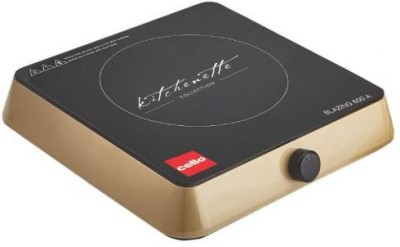 cello Blazing 600 B Induction Cooker with Knob Control Induction Cooktop(Gold, Jog Dial)