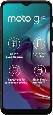 MOTOROLA G30 (Pastel Sky, 64 GB)(4 GB RAM)