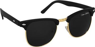 Silver Kartz Wayfarer Sunglasses(For Men & Women, Black)