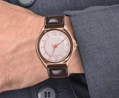 SPLAZOS New Trendies Genuine Leather Brown Men Analog Watch   For Boys SPLAZOS Wrist Watches