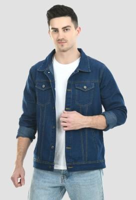 MONTREZ Full Sleeve Solid Men Denim Jacket