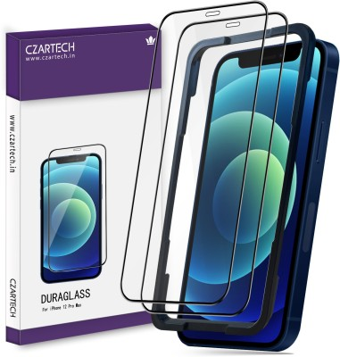 CZARTECH Edge To Edge Tempered Glass for Apple iPhone 12 pro max(Pack of 2)