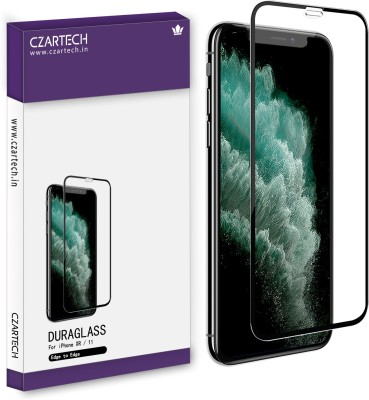 CZARTECH Edge To Edge Tempered Glass for Apple iPhone XR, iPhone 11(Pack of 1)