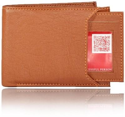 sskk Men Casual Brown Genuine Leather Wallet(6 Card Slots)