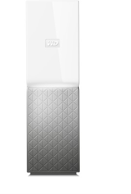 WD My Cloud Home 6 TB External Hard Disk Drive with 6 TB Cloud Storage(White, Silver)