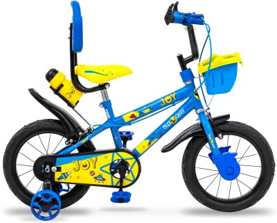 Miss & Chief Joy Durable Semi Assembled Kids Bicycle with Accessories and Steel Rim 14 T 14 T BMX Cycle(Single Speed, Blue)