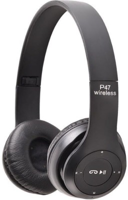 Azania P-47 BLUETOOTH HEADSET Bluetooth Gaming Headset(Black, On the Ear)