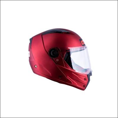 HEADFOX az Bluetooth N1 Motorbike Helmet(PLAIN RED)